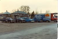 COMPANY FLEET parked at the then premises of 514 queenston st.  Circa 1989.jpg